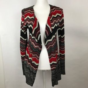Rue 21 Cardigan Small Black Red open front